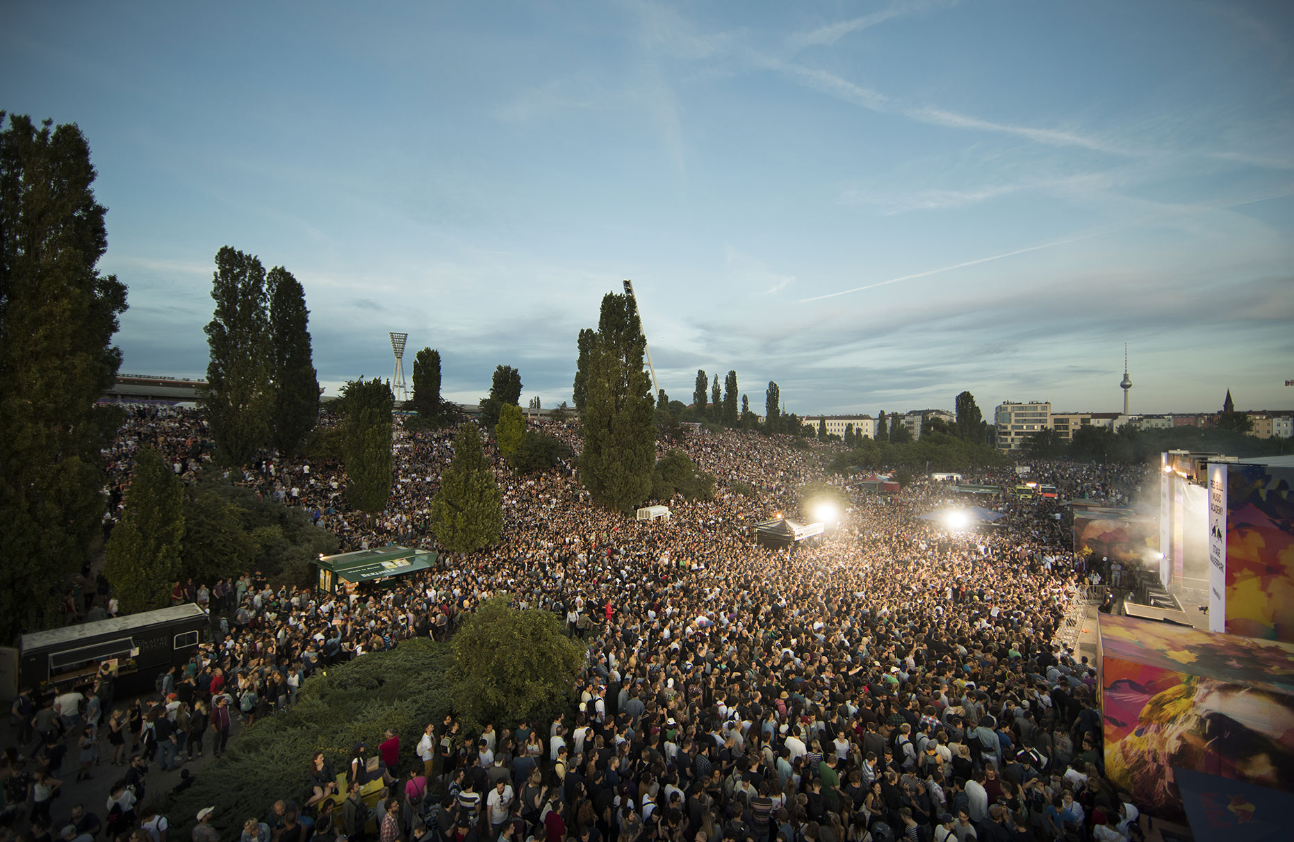 © Dirk Mathesius, Red Bull Music Academy Stage at Mauerpark in Berlin, client Red Bull, Germany